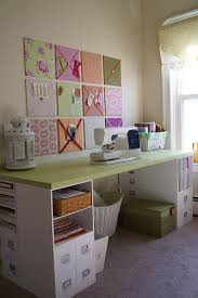 sewing table room crafts bulletin board and scrapbooking