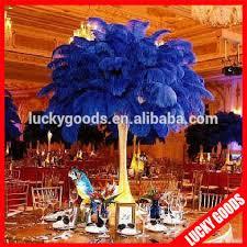 Ostrich Feather Centerpieces Royal Blue Ostrich Feather Centerpiece For Wedding Or Banquet