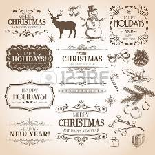 Vintage New Years Decorations by 240 012 Vintage Christmas Stock Vector Illustration And Royalty