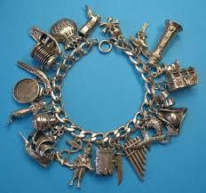 sterling bracelet charms images Vintage sterling silver pirate charm bracelet rare charms ruby jpg