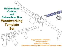 rubber band carbine and submachine gun template set scroll work