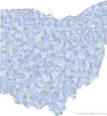 Map Ohio State by Printable Zip Code Maps Free Download