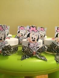 baby minnie mouse zebra print baby shower party favors baby