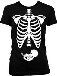 pregnant halloween shirt gothic skeleton cliparts clip art library