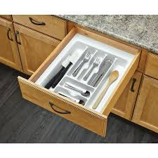 Knife And Fork Drawer Insert Shop Rev A Shelf 21 25 In X 17 5 In Plastic Cutlery Insert Drawer