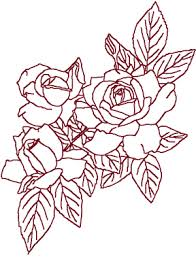 redwork roses roses roses embroidery design
