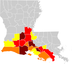 South Louisiana Map louisiana creole wikipedia