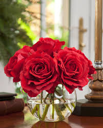 roses centerpieces shop lifelike nosegay silk flower arrangement at petals
