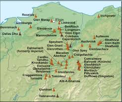 Scotch Whisky Map Image Gallery Speyside Distilleries
