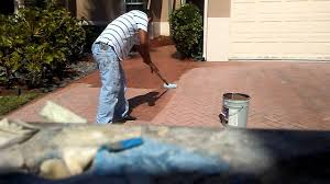 Sealing A Paver Patio by Restoring Brick Pavers With Pavers Sealer Youtube