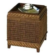 outdoor wicker storage ottoman wicker storage ottoman round rattan ottoman coffee table rattan