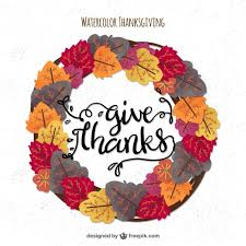 wreath of leaves for thanksgiving vector free