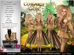 Cowardly Lion Costume Second Life Marketplace Lamu Fashion Costume Cowardly