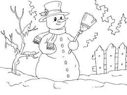 7 free winter coloring pages images crayons