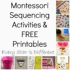montessori inspired sequencing activities u0026 free printables klp