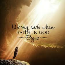 worry ends when faith in begins wall share