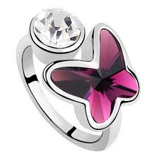 butterfly crystal rings images Jewelry ring for women butterfly crystal from swarovski 3swar jpg