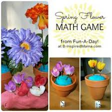 preschool math games flower petal counting preschool math