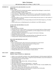 exle of business analyst resume healthcare business analyst resume sles velvet