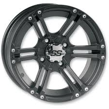 itp front rear ss212 black alloy 12x7 wheel 1228371536b atv