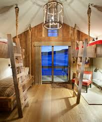 cabin bedroom ideas bedroom rustic with rustic hanging beds