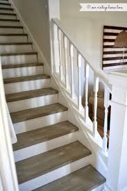the stairs were painted with annie sloan chalk paint in french