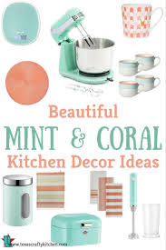 Beautiful Kitchen Decorating Ideas by Beautiful Mint And Coral Kitchen Decor Ideas Texas Crafty Kitchen