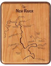 Virginia Rivers Map by New River Map Fly Box Virginia Cherry Wood Fly Fishing