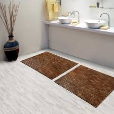 bathroom mat ideas bathroom brown teak bath mat on cozy parkay floor and bowl sink