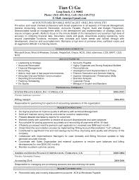Accounting Sample Resume by Accounts Payable Accountant Cover Letter