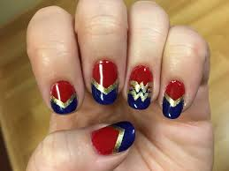 wonder woman nail art design nail designs pinterest wonder