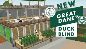 Blind Great Dane Mallards Release First Look At Great Dane Duck Blind Renovations