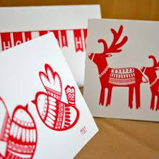 how to make your own christmas cards foam printing cutting out