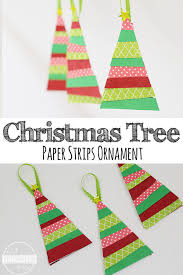 paper strips tree ornament craft