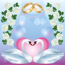 swan wedding wedding greeting or invitation card with two white swans wedding