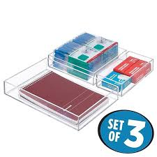 staples desk organizer set interdesign clarity desk organizer combo set to hold office supplies