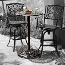 Black Cast Aluminum Patio Furniture Cast Aluminum Patio Furniture Sets Foter