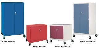 colorful mobile media storage cabinets