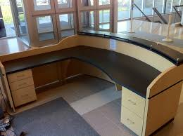 L Shaped Reception Desks Amazing L Shaped Reception Desk All About House Design Best L