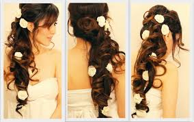 side swept curls wedding prom hairstyles