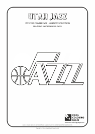 utah jazz u2013 nba basketball teams logos coloring pages cool