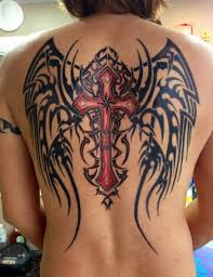 and wings on back