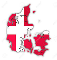 Denmark On World Map by Map And Flag Of Denmark On White Background Stock Photo Picture