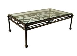 wrought iron coffee table with glass top wrought iron and glass coffee table ir glass coffee table wrought