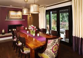 Floor To Ceiling Curtains Contemporary Dining Room With Floor To Ceiling Curtains By Atelier