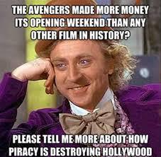 Hollywood Meme - piracy ruins hollywood 50 best funny memes