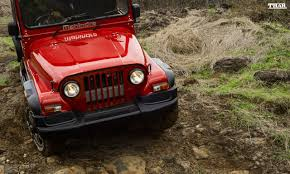 mahindra jeep thar 2016 mahindra thar facelift red 1 carblogindia