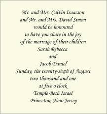 informal wedding invitations informal wedding invitation wording brides parents hosting