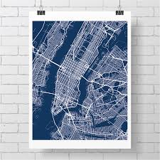 Map Art New York City Map Art