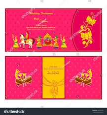 How To Make An Invitation Card For Wedding Vector Illustration Indian Wedding Invitation Card Stock Vector